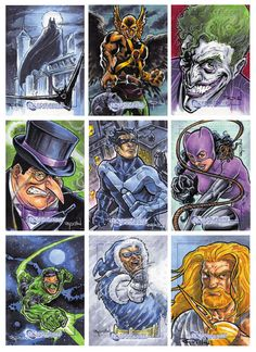 DC Comics Legacy sketch cards by ~RayDillon on deviantART