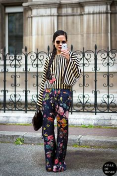 Stripes and florals combo
