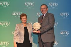 Gary Wixom, Assistant Commissioner for the Utah System of Higher Education, receives the 2014 ACTE Lifetime Achievement Award.