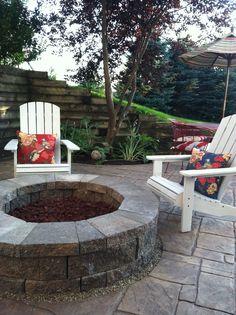 Backyard relax spot #firepit #backyard #adirondack