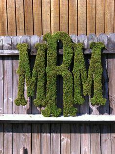 ⚓Large Moss Monogram - Rustic Wedding - Monogram - Home Decor via Etsy