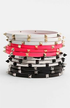 Cara Accessories Studded Bangles (Set of 3) $38 #stackedwrist #nordstrom