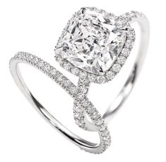 Harry Winston cushion-cut over 3 carats in a platinum setting