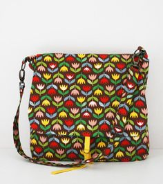 Messenger bag SMALL: tulips or echino (made to order) tulip style, sew, leuk tassen, messeng bag, pattern, messenger bags, bag small, tote bag, tulips