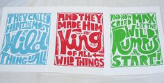 Where the Wild things Are  Let the Wild by rawartletterpress, $18.00