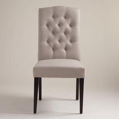 One of my favorite discoveries at WorldMarket.com: Gray Tufted Chairs, Set of 2 $259 AO