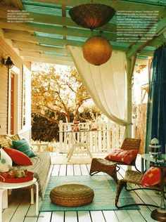 Love this!  I want a covered porch!
