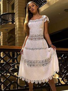 Russian Crochet Wedding Dress