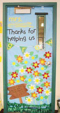 teacher appreciation door... Thanks for helping us grow