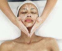 Green clay against acne