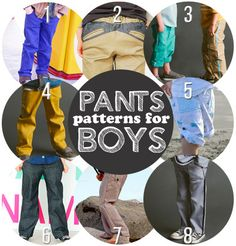 So many pants patterns for boys! boys sewing, cloth, sewing pants pattern, sew project, pant pattern, boy pant, sewing patterns for boys, sew pattern, pant sew