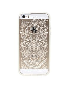 Clear Lace Iphone 5/ 5S Case. Finally! A STUNNING case that will let me show off my fancy gold phone. HOORAY!!