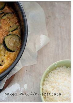 baked zucchini frittatta