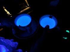 Soda water glows in uv light