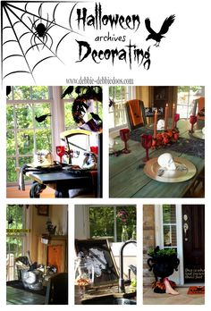 Halloween decorating ideas from my own gallery (4 years worth) I love Halloween! Table scapes, crafts, dollar tree and More!