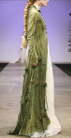 Olive Green Velvet Coat