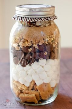 Campfire bars in a Jar - oh dear yum ! - Great how to!