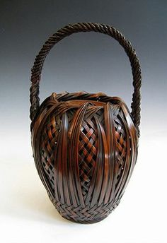 Antique bonsai basket