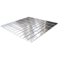 Grid Bricks Pattern Stainless Steel Mosaic Tile