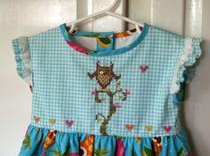 Baby Dress  Mr. Hooty Owl Angel Sleeves and by lesjardinsdevie, $65.00