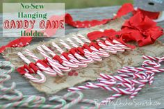 No Sew Hanging Candy Cane Holder