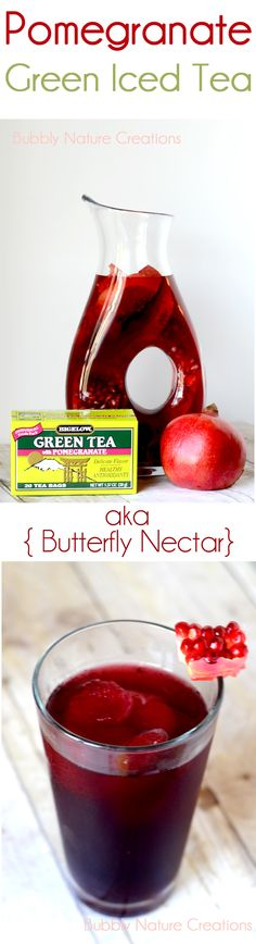 Pomegranate Green Iced Tea and a Butterfly Garden