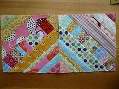 Miss Print: Tutorial: Pieced Centre String Quilt Block