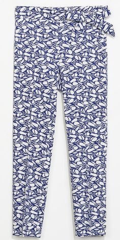 BUY THIS ONE THING: Zara Printed Trousers With Bow Detail