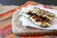 Spicy cilantro chicken skewers