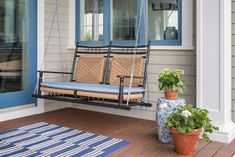 A porch swing is a n
