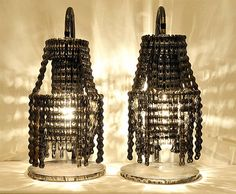 Chandeliers made from recycled bike parts