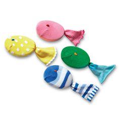 make bath time a little more fun.. soapy sock fish
