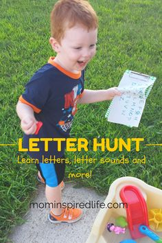Outdoor Letter Hunt - Mom Inspired Life