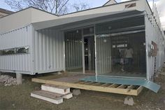 Cordell Shipping Container House - in construction