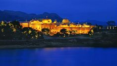 The Oberoi Udaivilas: Enchanting Lake Pichola adds to the serene romance of this Rajasthan palace escape.