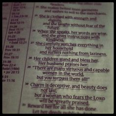 Proverbs 31 woman...What we should aspire to be.