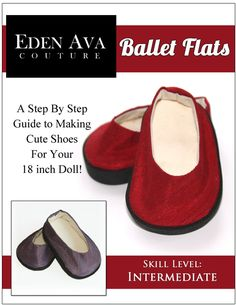Ballet Flats doll clothes shoe pattern