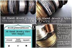 The 4 best posts on everything you always wanted to know about jewelry wire. #wire #wire_jewelry #diy_jewelry #diy #crafts