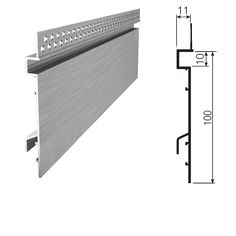 CI-2390 Shadowline Perforated Skirting (Suits 10mm Plasterboard)