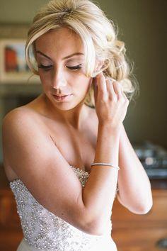 Beaded Anne Bowen wedding dress | Photo by Brandon Kidd | Read more - http://www.100layercake.com/blog/?p=78718