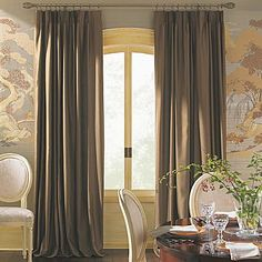 I'd like this in my Living Room/Dining Room with beige sheers on a second rod inside... pretty window treatments - great color!