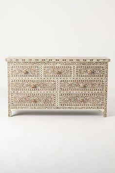 Ivory Etched Dresser  #anthropologie