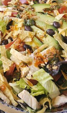 Tex Mex Layered Salad | FOOD | Pinterest