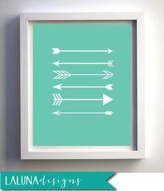 Arrow Print, Arrow Wall Art, Arrows Nursery Art, DIY Printable