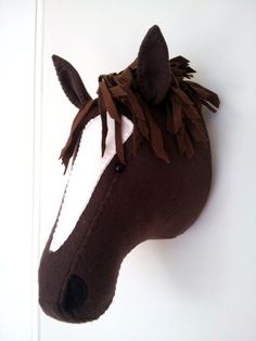 Wall Mounted Animal Heads in Fabric - Heathcliff Horse