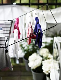 Real fresh linen scent. PORTIS drying rack on a balcony. See more drying racks.