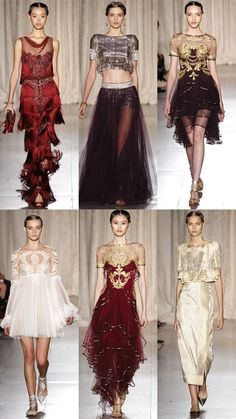 Marchesa Spring 2013 Collection | Tom & Lorenzo - love the colors here