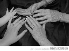 Five Generations of Hands.  family is the most important thing in life.