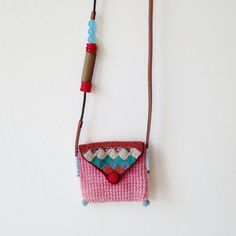 Long pouch necklace in pink by kjoo on Etsy, $280.00