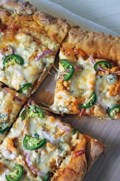 Homemade Gluten Free Buffalo Chicken Jalapeno Pizza7 The Fit Nut